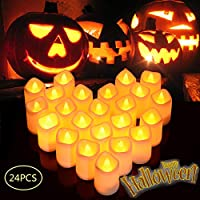 Litake LED Candles, Tea Lights 24/12 Realistic Flickering Flameless Candles Warm White Battery Powered Electric Fake Light for Weddings, Birthday, Festivals, Halloween, Home, Dinner, Party, Decoration
