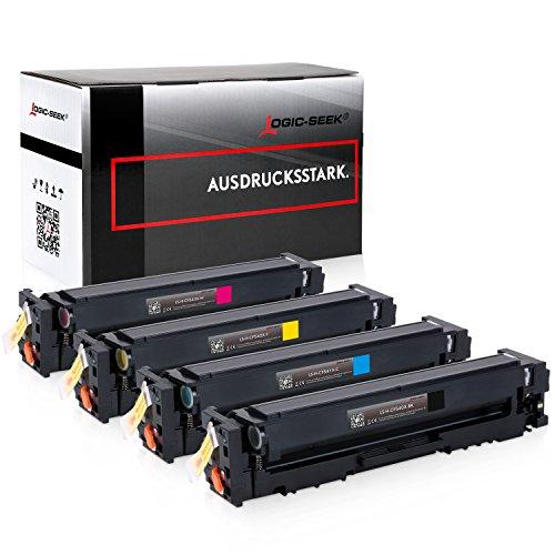 4 Logic-Seek Toner kompatibel zu HP CF540X-CF543X für Color Laserjet Pro M254nw M254dw MFP M280nw M281fdn M281fdw - 203X -