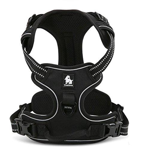Kismaple Durevole Regolabile Imbracatura per Cani Imbottita 3M Riflettente Comoda Maglia Pettorina Cane Imbottito ,Super-comoda per la Corsa, Passeggi