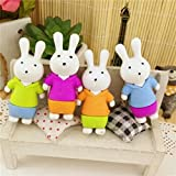 #8: Glorygifts Rabbit Eraser Cartoon Animal Rubber Cute Stationery Pencil Eraser Students Gift Cute Eraser Kids(Stationery Gift,Pack of 36)