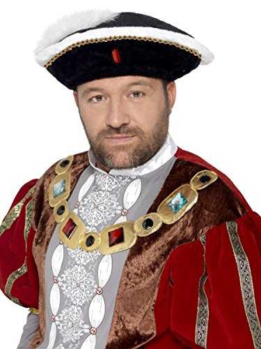 Viii Kostüm Henry - Smiffys Herren Kostüm Zubehör Tudor Hut Henry VIII Karneval Fasching