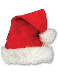Beistle 1-Pack Velvet Santa Hat with Plush Trim