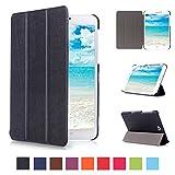 Skytar Cover per Tab S2 8 pollici,Copertura per Samsung Tab S2 8'',Folio Case Cover con Supporto Custodia in Pelle per Samsung Galaxy Tab S2 8.0 Pollici T710 / T715 / T719 Tablet,Nero