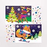 Baker Ross Kits d'Illustrations Animaux de la forêt en mosaïques (Paquet de 4) - Loisirs créatifs de Noël pour Enfants...