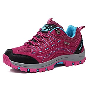 514yEerC9HL. SS300  - gracosy Women's Trekking Hiking Shoes Outdoor Waterproof Low Rise Hiking Boots Lightweight Breathable Mens Anti-Slip Climbing Shoes Sports Walking Shoes Lace Up Unisex Shoes