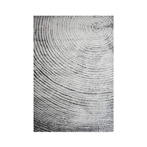 Teppiche JXLBB 0,8x1,5 m Polyester Moderne Minimalistische Kurze Samt Verdickung Mode Schmutzige Grau Jährliche Ring Wohnzimmer Schlafzimmer