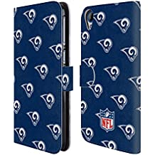 Official NFL Patterns 2017/18 Los Angeles Rams Leather Book Wallet Case Cover For HTC Desire 820