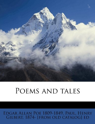 Poems and Tales                 by  Edgar Allan Poe