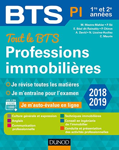 Tout le BTS Professions immobilières - 2018-2019 - 1re et 2e année