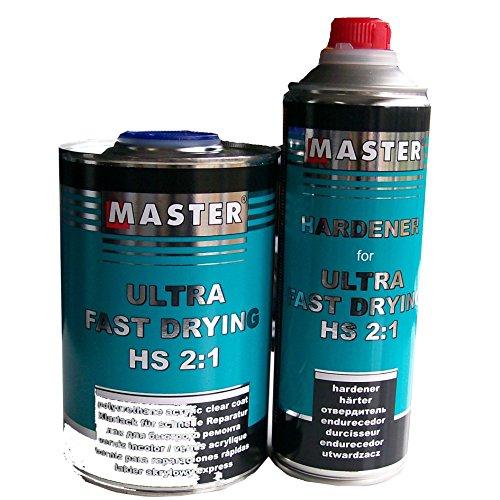Preisvergleich Produktbild Master Troton Acryl Klarlack 2K CLEAR COAT Ultra Fast Drying UHS 2:1 1L + Härter 1:2 0.5L