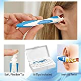 DECORCRAFTS Smart Swab Disposable Ear Wax Removal Cleaner System with 16 Replacement Heads
