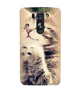 Printvisa Standing Cat Pic Back Case Cover for LG G3 Beat::LG G3 Vigor::LG G3s (Dual)