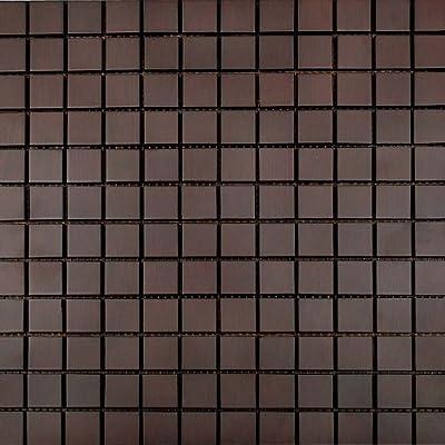 0.45m² Bad & Küche Bambus Mosaik Wand Fliese Blätter Braun Klein Rechteckig von Brooklyn auf TapetenShop