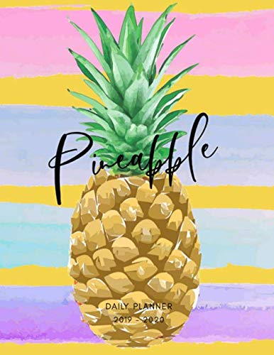 2019 2020 15 Months Pineapple Fruit Daily Planner: Academic Hourly Organizer In 15 Minute Interval; Appointment Calendar With Address Book, Password ... Oct 2019 To Dec 2020 With Julian Dates -