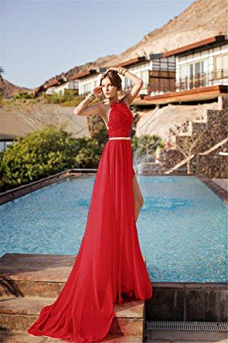 Abendkleider rot ruckenfrei