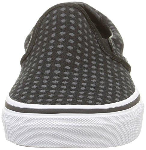 Vans Classic Slip-On, Unisex-Erwachsene Sneakers Schwarz (wool Dots/black/true White)