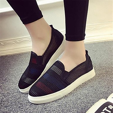 RTRY Donna Sneakers Comfort Pu Molla Canvas Informale Comfort Piatto Bianco US5 / EU35 / UK3 / CN34