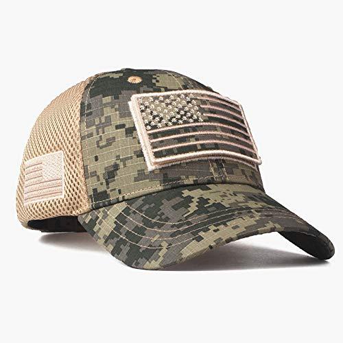 zhuzhuwen Hohe Qualität Camouflage Baseball Cap amerikanische Flagge Patch Baumwolle Mesh Cap Herren Hut Kappe 3 einstellbar (Box Von Dutch Master)