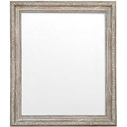 Frames By Post AP-3025 - Marco para foto o lámina, marrón madera con acabado envejecido, 50 x 70 cm, con cristal de plástico