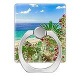 NSNNS - Soporte Universal para teléfono (2 Unidades), Agarre para Anillo de Dedo, rotación de 360 Grados en Anillo metálica, Anillo de Dedo Cuadrado, Isla de Fuerteventura, Playa, Vacaciones