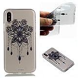 CUAgain Coque iPhone XS/iPhone X Silicone Transparent Transparente Antichoc Motif...