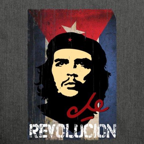 Spreadshirt Che Guevara Revolución Borsa A Tracolla Bandiera Cubana Realizzata In Materiale Riciclato Nero Chiazzato