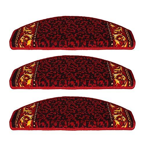 LJJL Stufenmatten Treppen Teppich, Selbstansaugende Ohne Kleber Bottom Haushalt Umweltfreundlich Stille Holztreppe Schritt Mat Wiederverwendbare (Color : Pack of 10, Size : 65x24x3CM)