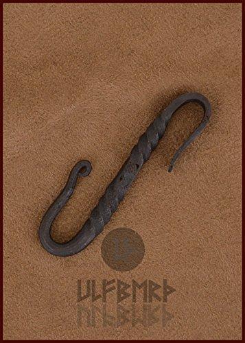 �rtelhaken aus Stahl S-Haken Länge: ca. 7 cm LARP Mittelalter Wikinger (Zombie Militär Kostüm)