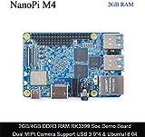 FriendlyARM NanoPie M4 2GB DDR3 Rockchip RK3399 SoC 2.4G & 5G Dual Band WiFi, Compatible con Android y Ubuntu, AI y Aprendizaje Profundo 2GB DDR3 Base 2GB DDR3 Base