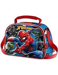 DC COMICS Spiderman Danger- Porta Comida 3D - Interior Térmico - Para Niños - Primera Infancia - Color Azul