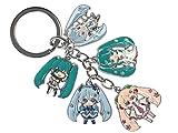 CoolChange Porte-clés Vocaloid avec 5 figurines Chibi Miku Hatsune