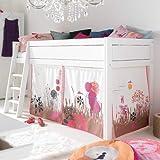 Lifetime AKTION - Halbhohes Bett/Kinderbett WUNDERLAND, weiß, umbaubar, 90x200cm