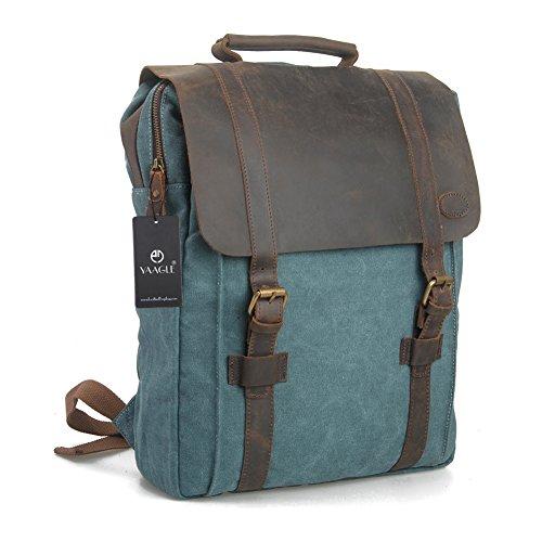 YAAGLE Canvas europäisch Damen und Herren Unisex Retrotasche Rucksack Reisetasche groß Fassungsvermögen Schüler Schultasche Laptoptasche Schultertasche-blue(Small) blue(Small)