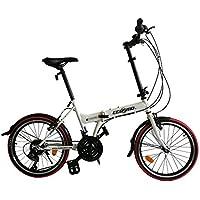 """ECOSMO 50,80 cm (20"""")-Bicicletta pieghevole da città 21SP-20F03W"""