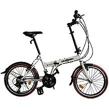 ECOSMO 21SP 20F03W - Bicicleta de ciudad plegable, 20