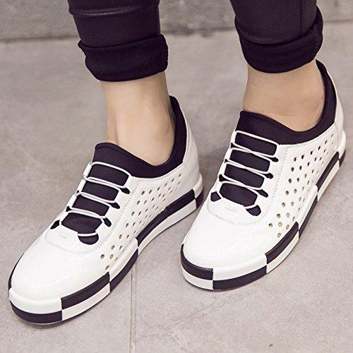 WZG Les chaussures plates nouveau muffin tunnel Mocassins femmes casual chaussures chaussures d'ascenseur à l'intérieur de l'enfant femelle creux White