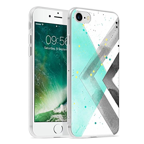 Ayotu iPhone 6 6s Case,Ultra Light Slim Case with Anti-Scratch Shockproof Bumper Soft TPU Silicone Frame Protective Phone Case Cover Skin for Apple iPhone 6/6s (4.7-inch)-The Green Leaves AA-The Multicolor-02