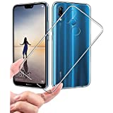 SmartLike Transparent with Anti Dust Plugs Shockproof Slim Back Cover Case For Huawei P20 lite/Nova 3e