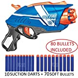 #7: MousePotato Blaze Storm Soft Bullet Gun Mega Pack with 80 Soft Foam Bullets (HOT FIRE-80 Bullets)