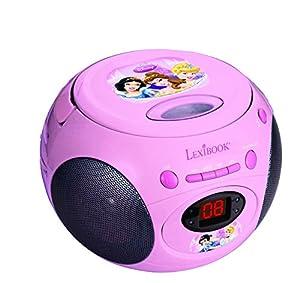 Disney Princesas Disney-RCD102 Princesas Lector Radio CD portátil Color Rosa Lexibook RCD102DP
