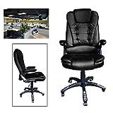 HG® Bürodrehstuhl Gaming Stuhl Premium Komfort gepolsterte Armlehnen Racing Stuhl Belastbarkeit 200 kg Höhenverstellbar schwarz