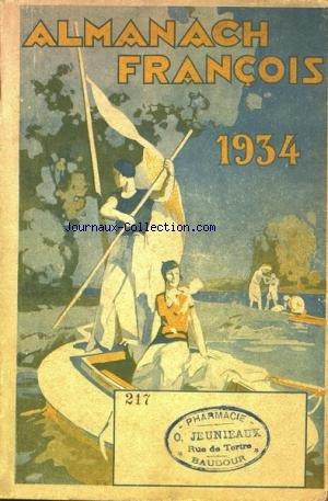 ALMANACH FRANCOIS du 01/01/1934