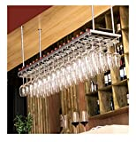 Supporto a binari di Porta calici da Vino con 3 Binari per 9 Bicchiere di Vino Ideale per Porta Tazze da Parete appendi calici da Muro K9CK Portabicchieri Porta Calici di Vino