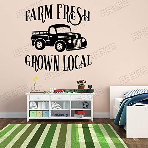 Bauernhof Frisch Gewachsen Lokale Entfernbare Wandaufkleber für Wohnkultur Wohnzimmer Vinyl Wandtattoos Kinderzimmer Jungen Poster Wandbilder 57 * 59 cm