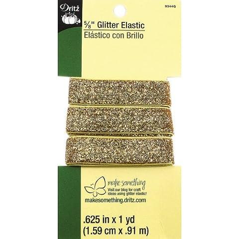 Glitter elastico 1 Yard-oro