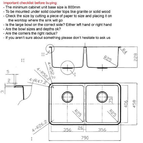 Fregadero de cocina doble fregadero rectangular fregadero de acero ...