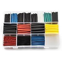 ZREAL 580 Unids 8 Tamaños Poliolefina 2: 1 Manga de Tubo Termoencogible Surtido Manga Envoltura Kit de Cables Kit de Cables