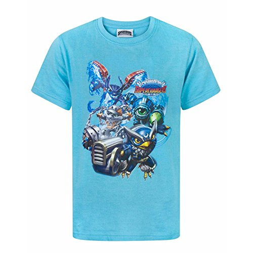 Skylanders Jungen Superchargers T-Shirt (Jahre (13-14)) (Vivid Blau)