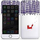 Apple iPhone 6 Plus Case Skin Sticker aus Vinyl-Folie Aufkleber Wald Fuchs Kunst