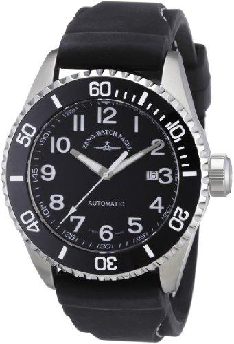 Zeno Watch Basel Herren-Armbanduhr XL Diver Analog Automatik Kautschuk 6492-a1-1
